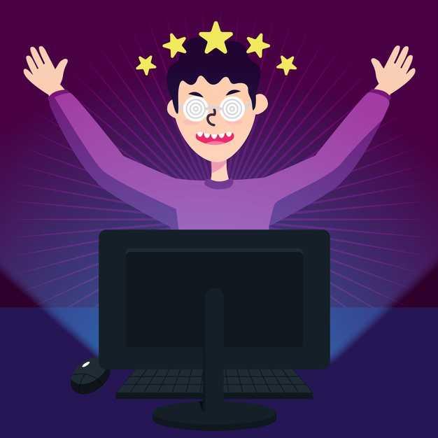 Онлайн игровая зависимость и играющий мальчик | Бесплатно векторы